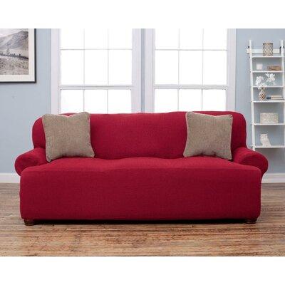 Sofa Slipcover Upholstery: Wine