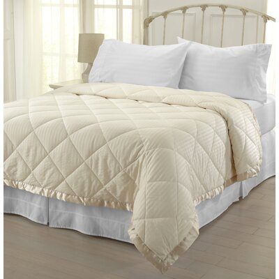Landsdale Luxury Down Alternative Blanket Color: Ivory, Size: Full / Queen