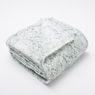 Bella Seville Ultra Velvet Plush Super Soft Fleece Blanket Color: Blue Surf, Size: King