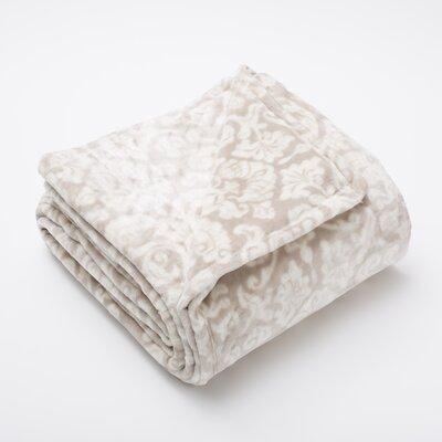 Katrina Fleur Ultra Velvet Plush Super Soft Fleece Blanket Color: Gray / White, Size: Full / Queen