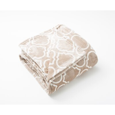 Aloisia Ultra Velvet Plush Super Soft Fleece Blanket Size: Twin, Color: Taupe