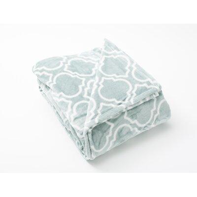 Aloisia Ultra Velvet Plush Super Soft Fleece Blanket Size: Twin, Color: Blue Surf