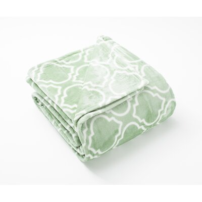 Aloisia Ultra Velvet Plush Super Soft Fleece Blanket Color: Basil Green, Size: Full / Queen