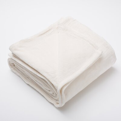 Marlo Ultra Velvet Plush Super Soft Fleece Blanket Size: Full / Queen, Color: Whisper White