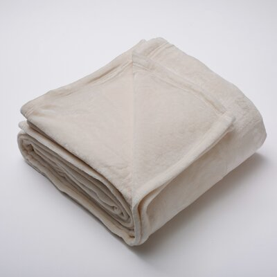 Marlo Ultra Velvet Plush Super Soft Fleece Blanket Size: Full / Queen, Color: Gray Morn