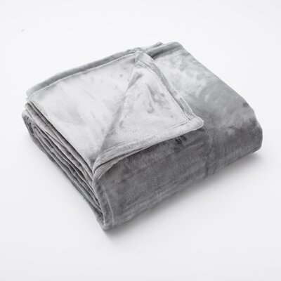 Marlo Ultra Velvet Plush Super Soft Fleece Blanket Color: Silver, Size: Twin
