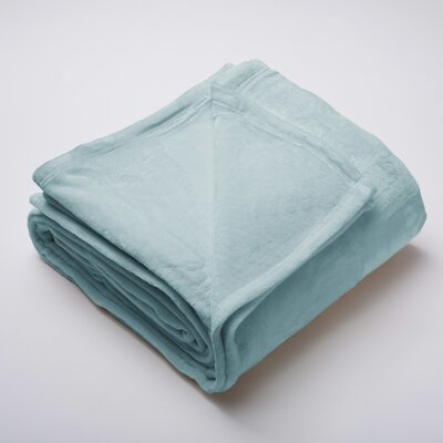 Marlo Ultra Velvet Plush Super Soft Fleece Blanket Color: Blue Surf, Size: King