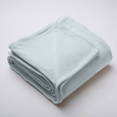 Marlo Ultra Velvet Plush Super Soft Fleece Blanket Size: Full / Queen, Color: Sky Gray