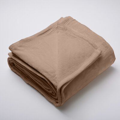 Silana Ultra Velvet Plush Super Soft Fleece Blanket Size: Twin, Color: Latte / Pine Bark