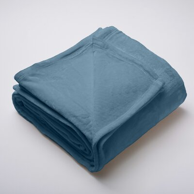 Silana Ultra Velvet Plush Super Soft Fleece Blanket Color: Indian Teal, Size: King