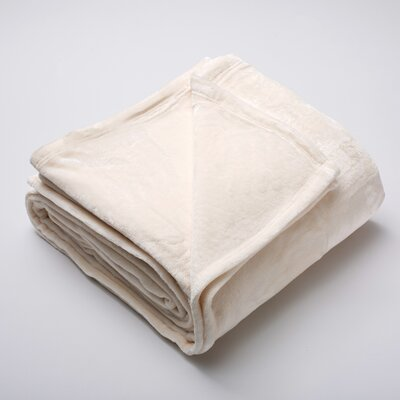 Silana Ultra Velvet Plush Super Soft Fleece Blanket Color: Eggnog, Size: Full / Queen