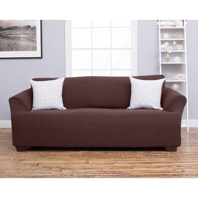 Amilio Sofa Slipcover Upholstery: Chocolate