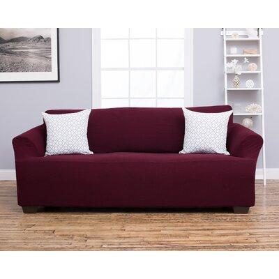 Amilio Sofa Slipcover Upholstery: Wine