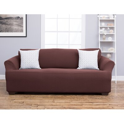 Cambria Sofa Slipcover Upholstery: Chocolate