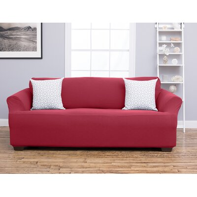 Cambria Sofa Slipcover Upholstery: Burgundy