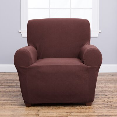 Cambria Armchair Slipcover Upholstery: Chocolate