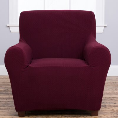 Amilio Armchair Slipcover Upholstery: Wine
