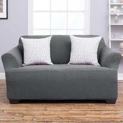Amilio Loveseat Slipcover Upholstery: Gray