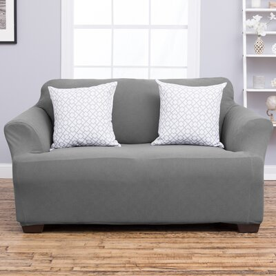 Cambria Loveseat Slipcover Upholstery: Gray