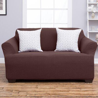 Amilio Loveseat Slipcover Upholstery: Chocolate
