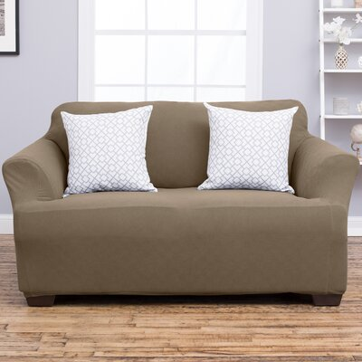 Cambria Loveseat Slipcover Upholstery: Toffee