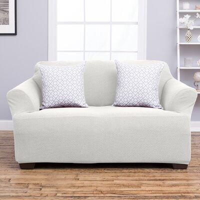 Amilio Loveseat Slipcover Upholstery: Ivory