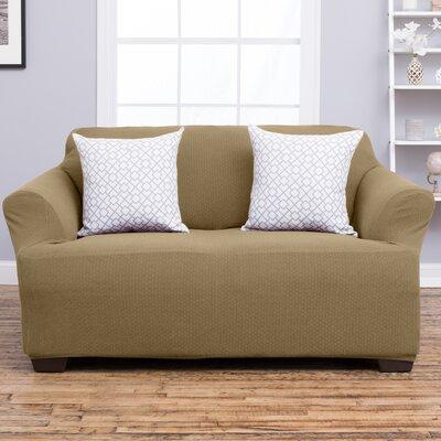 Amilio Loveseat Slipcover Upholstery: Beige