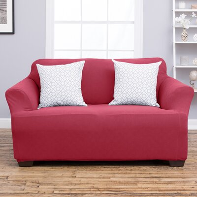 Cambria Loveseat Slipcover Upholstery: Burgundy