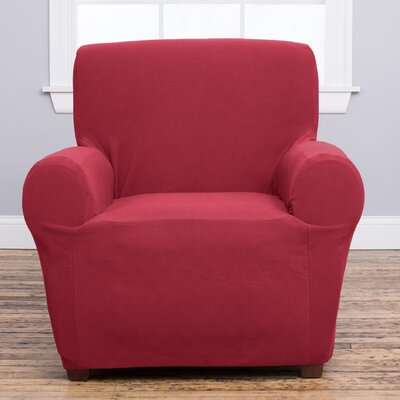 Cambria Armchair Slipcover Upholstery: Burgundy