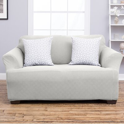 Cambria Loveseat Slipcover Upholstery: Ivory