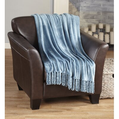 Carlsen Ultra Velvet Plush Super Soft Blanket Color: Smoke Blue