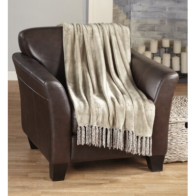 Carlsen Ultra Velvet Plush Super Soft Blanket Color: Simply Taupe
