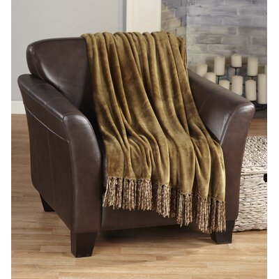 Carlsen Ultra Velvet Plush Super Soft Blanket Color: Mocha
