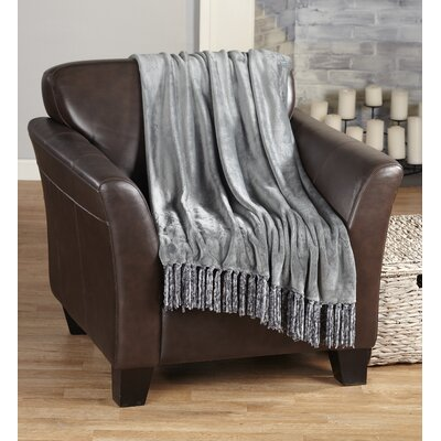 Raya Ultra Velvet Plush Super Soft Blanket Color: Gray 35418