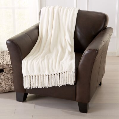 Carlsen Ultra Velvet Plush Super Soft Blanket Color: Eggnog