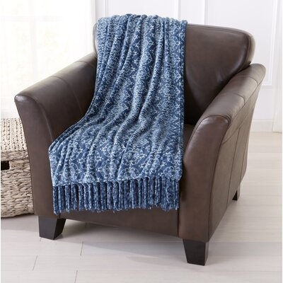 Orleans Ultra Velvet Plush Super Soft Printed Blanket Color: Indian Teal