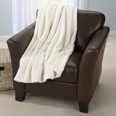 Ava Velvet Plush Luxury Throw Blanket Color: White