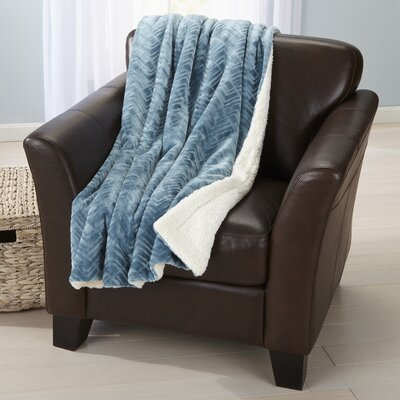 Ava Velvet Plush Luxury Throw Blanket Color: Blue Surf
