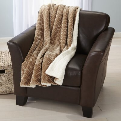 Velvet Plush Luxury Throw Blanket Color: Taupe