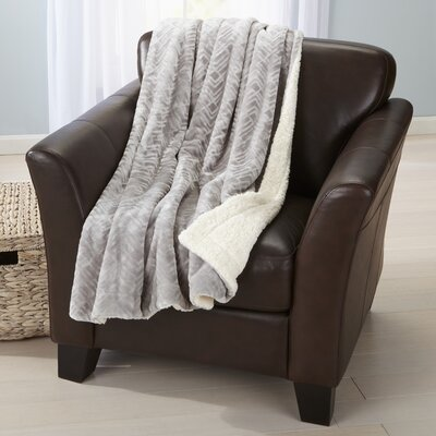 Velvet Plush Luxury Throw Blanket Color: Pewter