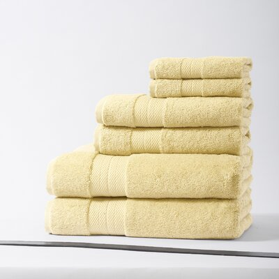 Geneva Luxury 100% Turkish Cotton 6 Piece Towel Set Color: Butter