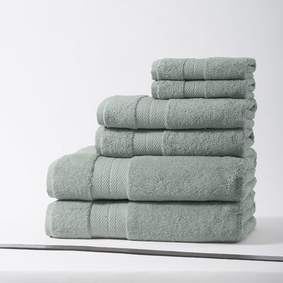 Geneva Luxury 100% Turkish Cotton 6 Piece Towel Set Color: Grand Turk Blue