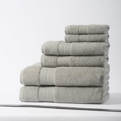 Geneva Luxury 100% Turkish Cotton 6 Piece Towel Set Color: Mist Gray