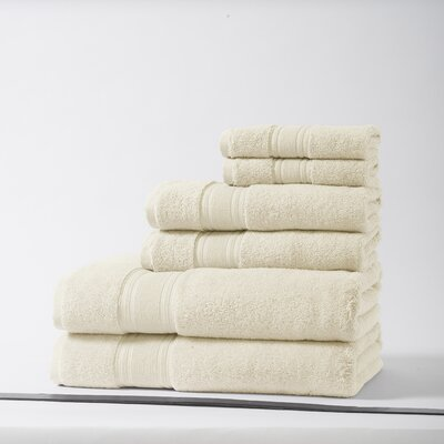 Lucca Luxury Turkish Cotton 6 Piece Towel Set Color: Ivory