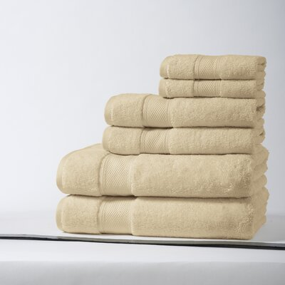 Santorini Luxury 100% Turkish Cotton 6 Piece Towel Set Color: Raffia