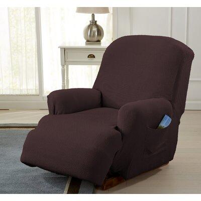 Savannah Recliner T-Cushion Slipcover Color: Chocolate