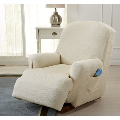 Savannah Recliner T-Cushion Slipcover Color: Ivory