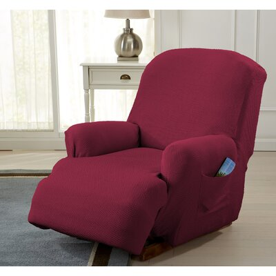 Savannah Recliner T-Cushion Slipcover Color: Wine