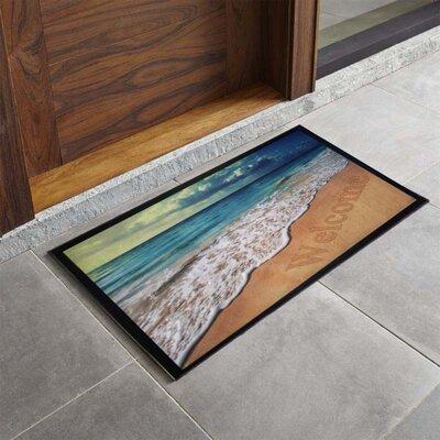 Bora Bora Beach Sunrise Printed Outdoor Welcome Door Mat