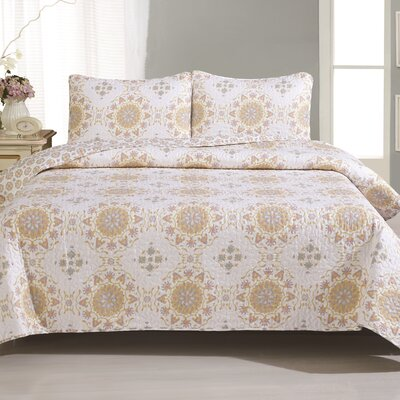 Brayman Quilt Set Size: Twin, Color: Multi